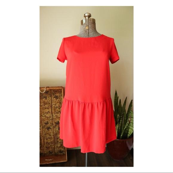 Cynthia Rowley Dresses & Skirts - Cynthia Rowley Drop Waist Red Midi Dress